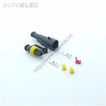 10kit 282079-1 282103-1 ip67 1pin way Super automotive sealed connectors Auto Wire Connector Plug for AMP Tyco TE Xenon lamp(China)