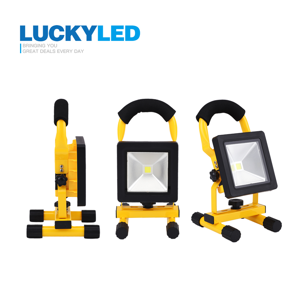 LUCKYLED ultrathin led flood light 10W Waterproof IP65 rechargeable portable Spotlight camping light Outdoor Floodlight lamp<br><br>Aliexpress