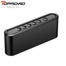 TOPROAD Portable Bluetooth Speaker Hifi Wireless Stero Soundbox Super Bass Dual Speakers with Mic Support TF USB for Phone PC(China)