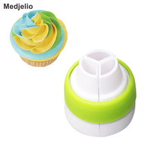 Medjelio Pastry Adaptor Cream Cake cooking tools free shipping Round Converter Russia Nozzles Icing Piping Tips Coupler