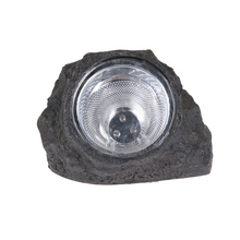 Outdoor Garden Solar Powered LED Light White 3-LED Decorative Stone Spot Lights Landscape Lawn Yard Lamp MFBS