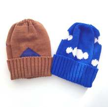 wholesale 2016 winter bobo choses clouds pattern kids knitted hat baby caps kids head wears cartoon baby boy caps baby girls