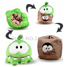 Cut The Rope Sad Om Nom Plush Toy Reversible Box Bag 15cm 6'' Cute Frog Stuffed Animals Kids Toys for Children Gifts