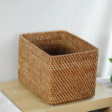 Rectangular storage baskets Storage basket of imported natural rattan basket Storage Box NEW(China)