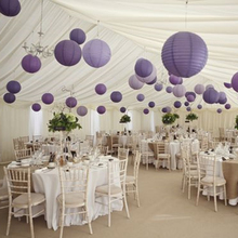 1pcs/lot 16''(40cm) Chinese Paper Lantern Lamp Festival Wedding Party Decoration Purple/White Lanterns accessory Free Shipping(China)