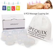 PRO New Full Body Massager Help Anti Cellulite Vacuum Care Silicone Cupping Cups 6PCS 55*55mm Traditonal Massage Cupping Set(China)
