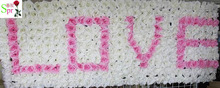 SPR 4 letter/lot LOVE Artificial flower wall SET wedding background lawn/pillar flower home market decoration(China)