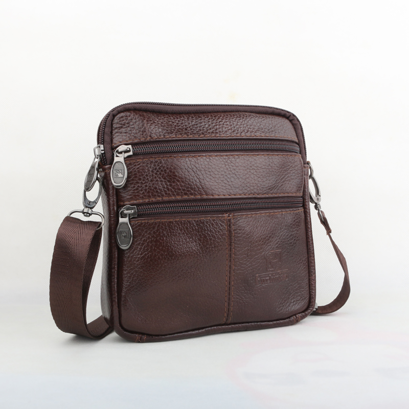 2016 New fashion brand small men bag vintage Genuine Leather mens messenger Bag Casual Men  crossbody mini shoulder bags<br><br>Aliexpress