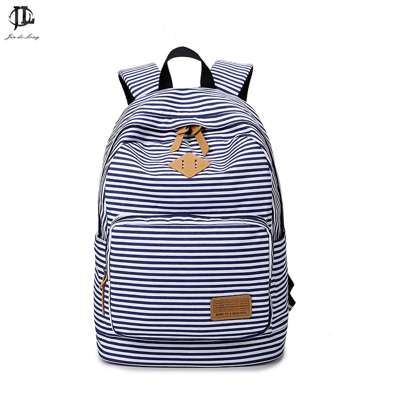 Korean STYLE Canvas stripe printing Backpack Women School Bags for Teenage Girls Cute Bookbags Vintage Laptop Backpacks Female<br><br>Aliexpress