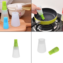 2Pcs/Set Grill Oil Bottle Brushes Tool Heat Resisting Silicone BBQ Basting Oil Brush Barbecue Cooking Pastry Oil Brushes(China)