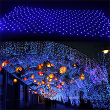 Kmashi 3Mx2M 204 LED Fairy String Xmas Tree Mesh Curtain Decorate Ceiling House Window Wall Net Lights Festival Holiday 110-240V