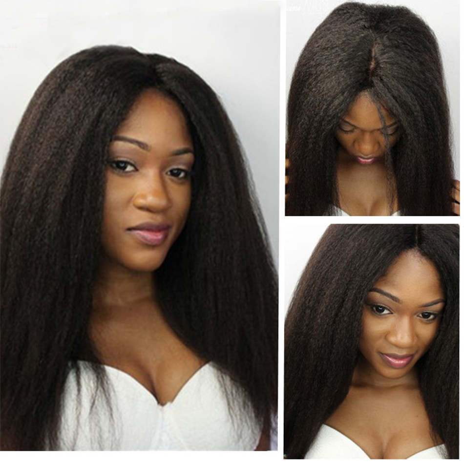 Full Lace Human Hair Wigs Kinky Straight Lace Front Wigs 100% Human Hair Peruvian Virgin Hair Lace Wigs<br><br>Aliexpress