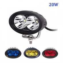 10-48V DC blue Red Yellow Warning Light 12v 24v 4 inch 20w Light Vehicle Safety Lamp LED Forklift light forklift truck spot beam