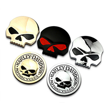 2017 Hot Sale 3D Metal Skull Car Sticker Auto Car Moto Motorcycle Sticker Car Styling(China)