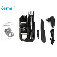 Buy Kemei 8 1 Hair Trimmer Rechargeable Hair Clipper Electric Shaver Beard Trimmer men styling tools shaving machine cutting for $17.55 in AliExpress store