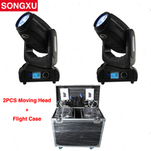 SONGXU Flight case 2IN1 2pcs 280W 10r Beam Spot Wash 3in1 Moving Head Light Beam 280 10r Stage Light Rode case Packaged/SX-MH280