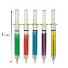 Injection Type Ball Point Pen 1 / Set Doctor Nurse Gift Liquid Pen Color Random Transmission