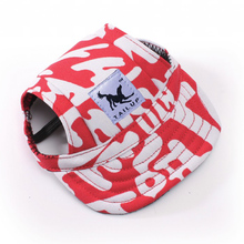 TAILUP Small Dog Hat with Ear Holes 10 Patterns Summer Canvas Casual Outdoor Baseball Visor Caps(China)
