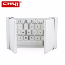 Intelligent Pocket Folding Keyboard Aluminum Bluetooth Foldable Universal Wireless Travel Keypad for iphone ipad PC tablet phone