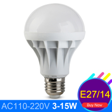 Spot Led Lamp E14 3W 5W 7W 9W 12W 15W 5730 SMD Led Ball Bulb 110V 220V Bombilla LED E27 Bulbo Global Lampada De Led Light
