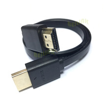 0.3M 0.5M 1M 1.5M High quality 1.4v 1080p 3D Flat line short gold Plated Plug Male-Male HDMI Cable for PS3 HDTV DVD XBOX PC Pro(China)