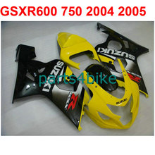 Yellow  Bodywork gsxr 600 Fairing kit For Suzuki 750 2004 2005 04 05 ( 100%New) High quality fairings free Windscreen m28