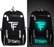 TFBOYS GD G-DRAGON One Piece Totoro Printed Anime Backpack Bag teenagers Messenger Luminous Glow Light School Bag Boy Girl Gift(China)