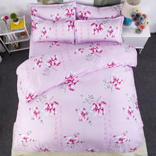 chinese pink and red flower bedding bed sets queen king bedsheet bedlinen lovely wedding comforter duvet cover 4/5pc