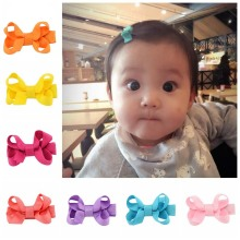 20PCS/lot Hair Accessories Girls Hair Clips Small Ribbon Bow Hairpin Barrettes Headwear Boutique Wholesale Best Friend Gift