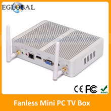Eglobal Fanless HTPC Living Home Computer With Intel Celeron N3050 Processor 8GB RAM 128GB SSD Openelec XBMC 4 USB3.0 VGA + HDMI