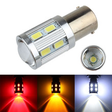 1156 BA15S P21W BAU15S 1157 BAY15D 5630 SMD 12 LED Projector Lens Car Auto Tail Reverse Turn Signal Brake Lights Bulb Lamp White(China)