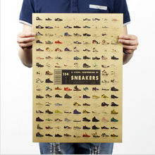 [H202] sneakers / nostalgia / old retro kraft poster / Advertising posters / vintage decorative painting 51x35.5cm