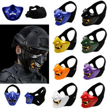 Airsoft Paintball Mask Goggles Hannya Mask Halloween Mask Army of 2 BB Gun Paintball Prajna Mask Hunting Accessories Party Prop(China)