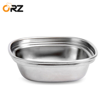 ORZ 4PCS Condiment Seasoning Soy Sauce Plate Stainless Steel Hot Pot Sushi Restaurant Fruit Dish Sauce Container Tableware Set