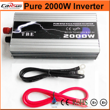 Pure Sine Wave 2000W Car Power Inverter Dc 12V TO Ac 220v Car Converter With USB With USB For Solar/wind/gas Power Generation(China)
