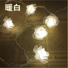 Hot sale 50 LED Battery Operated Rose lamps String Light Fairy Lights Wedding room decoraion Home Christmas Xmas Party