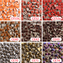200 gram/205 pcs 10 X 10mm orange brown Square Ceramic Mosaic Tile, 1 X 1cm  Mosaic Tile, Ceramic Tile, DIY Mosaic Art Supplier