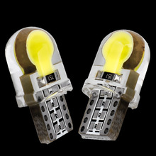 2PCS T10 W5W WY5W 194 Silicone Case COB LED Car Wedge Interior Light Side Door Bulb Instrument Lamp Auto Parking Light Source 2X