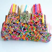 2017 new Wholesale 50 Pcs/Set 3D Nail Art Fimo Canes Stick Rods Polymer Clay Stickers Decorations Beauty Free Shipping