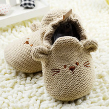 High Quality 0-18M Infant Toddler Baby Knit Crib Shoes Newborn Boy Girl Cartoon Shoes(China)