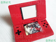 Free Shipping Full Parts with Screens for Nintendo DS NDS Replacement DIY Housing Shell with Touch Pen - Red Color