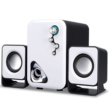 Multimedia USB 2.1 Active Audio Stereo Computer Speakers Mini Portable Subwoofer Altavoces Ordenador for Laptop Desktop Universa(China)