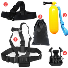 Sports Action Cameras Accessories Kit Head Strap Chest Strap Floaty Bobber Mount For SJCAM SJ4000 SJ5000 SJ6 Legend SJ7 Star M20