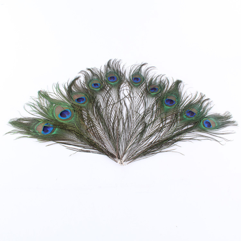 20pcs Peacock feathers 8-12 inch Beautiful Natural Feathers Wedding, Party ,Home ,Hairs DIY Decoration(China)