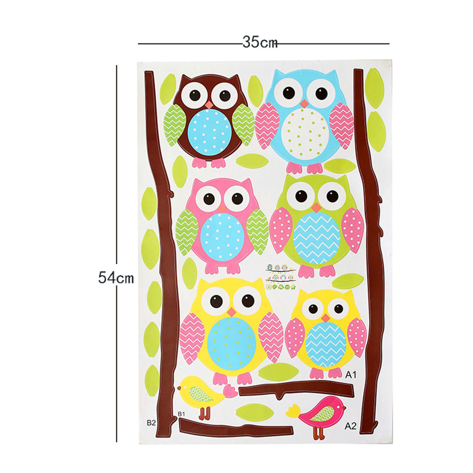 Owl Wall Stickers For Kids Rooms A16 (4)