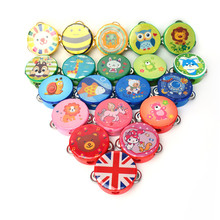 1PC Kids Educational Cartoon Wooden Drum Rattles Toy Baby Hand Drum Toy Musical Drum Rattles Beat Instrument Gift small