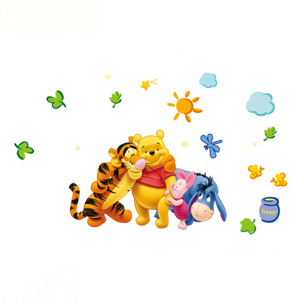 HTB1ZSlhahk98KJjSZFoq6xS6pXaV - New Arrival  The Pooh Cartoon Wall Stickers For Kids Rooms