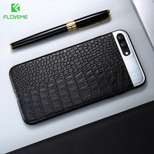 FLOVEME Phone Cases For iPhone 6 7 6s Plus Case Crocodile Leather Business Ultra Slim Coque Back Cover For Apple i7 Capa