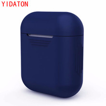 YIDATON New Silicone Gel Shockproof Protective Cover Case Box Skin For Apple AirPods Earphones Mini Travel Protector Bag