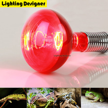 R125 infrared heating lamp reptile lamp 220V E27 base 250W big red reptile bulb pet reptile breeding emitter heating light bulb(China)